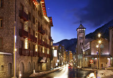 Sant Pere Martir church in Andorra la Vella. Andorra Stock Image