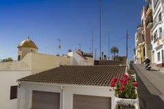 Sant Pol de Mar Costa di Barcellona fotografia stock