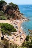Sant Polityk De Mącący zatoki plaża fotografia stock