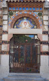 Sant Roma Church, Lloret de Mar, Costa Brava, España Foto de archivo
