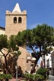 Sant Roma church in Lloret de Mar, Costa Brava,. Girona province,Spain royalty free stock image