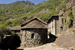 Sant Roma church in the village of Ainato,Pallars Sobira, Pyrenees moutains,Lleida,Spain Royalty Free Stock Image