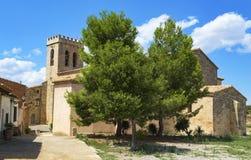 Sant Salvador church in Vimbodi, Spain Stock Images