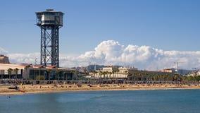 Sant Sebastia海滩 库存图片
