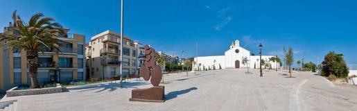 Sant Sebastia church at Sitges, Spain Royalty Free Stock Photos