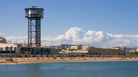 Sant Sebastia plaża Obraz Stock