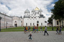 Sant Sophia Cathedral in Novgorod, Russia Royalty Free Stock Images