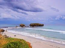 Sant Tomas Beach on Minorca Stock Images