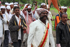 Sant Tukaram palkhi procession, Maharastra, India. A still shot form the culturally important and India's one of the biggest spiritual processions with thousands Royalty Free Stock Photography