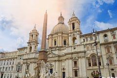 Sant& x27; Agnese w Agone kościół Fotografia Stock