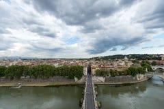 Sant' Angelo Bridge Rome Italia Stock Photos