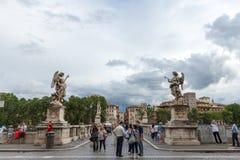 Sant' Angelo Bridge Rome Italia Stock Photography
