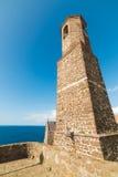 Sant'Antionio steeple in Castelsardo Royalty Free Stock Photo