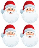 Santa�s Head Stock Photo