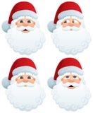 Santa's Head Stock Photo