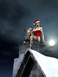 Santa�s helper takes a break Stock Images