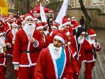Santa's não identificado Foto de Stock Royalty Free