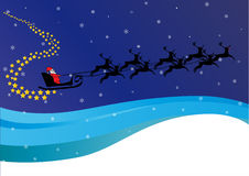 Santa�s sleigh Stock Photography