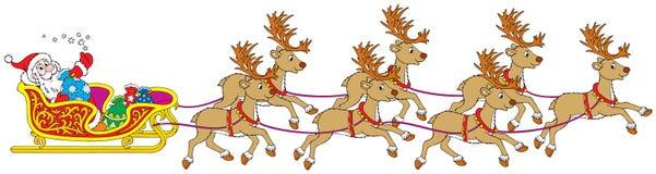 Santa�s sleigh Royalty Free Stock Photo