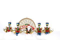 Santa�s Marching Band Isolated on White Stock Image
