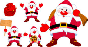 Santa�s set ilustracja wektor