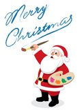 Santa – Painter Stock Images
