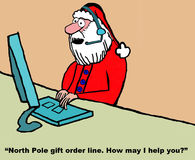 Santa é representante do serviço ao cliente Fotografia de Stock Royalty Free