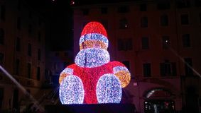Santa électronique à Marseille Images stock