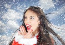 santa śnieg fotografia royalty free