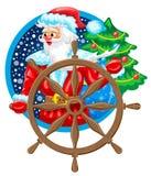Santa żeglarz royalty ilustracja