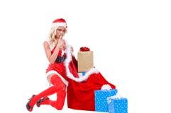 santa αρωγών Χριστουγέννων Στοκ Εικόνα