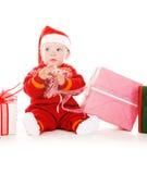 santa αρωγών δώρων Χριστουγένν&omeg Στοκ εικόνα με δικαίωμα ελεύθερης χρήσης