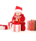 santa αρωγών δώρων Χριστουγένν&omeg Στοκ Φωτογραφία