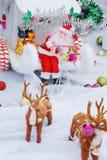 santa διακοπών διακοσμήσεων &p Στοκ Εικόνες