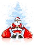santa δύο σάκων δώρων Claus Χριστου&g ελεύθερη απεικόνιση δικαιώματος
