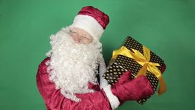 santa δώρων Claus απόθεμα βίντεο