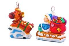 santa ελαφιών Claus Χριστουγέννων Στοκ Εικόνες