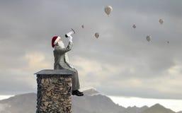 santa ερχομού Μικτά μέσα Στοκ Εικόνες