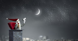 santa ερχομού Μικτά μέσα Στοκ εικόνα με δικαίωμα ελεύθερης χρήσης
