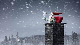 santa ερχομού Μικτά μέσα Στοκ φωτογραφία με δικαίωμα ελεύθερης χρήσης