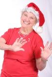 santa ερχομού Claus στην πόλη Στοκ εικόνες με δικαίωμα ελεύθερης χρήσης