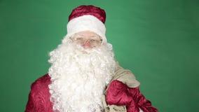 santa ερχομού Claus απόθεμα βίντεο