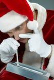 Santa και κοκαΐνη στοκ εικόνα