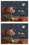 Santa και Rudolf Differences Visual Game Στοκ φωτογραφία με δικαίωμα ελεύθερης χρήσης