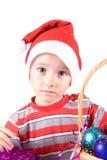 santa καπέλων αγοριών Στοκ φωτογραφίες με δικαίωμα ελεύθερης χρήσης