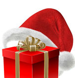 santa καπέλων δώρων Στοκ εικόνα με δικαίωμα ελεύθερης χρήσης