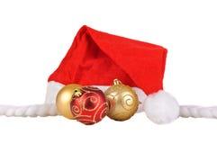 santa καπέλων Χριστουγέννων σ&phi Στοκ φωτογραφίες με δικαίωμα ελεύθερης χρήσης