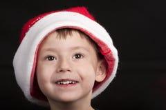 santa καπέλων Claus αγοριών Στοκ Εικόνες
