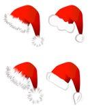 santa καπέλων Claus Διανυσματική απεικόνιση
