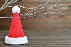 santa καπέλων Χριστουγέννων κ&alp Στοκ Εικόνες